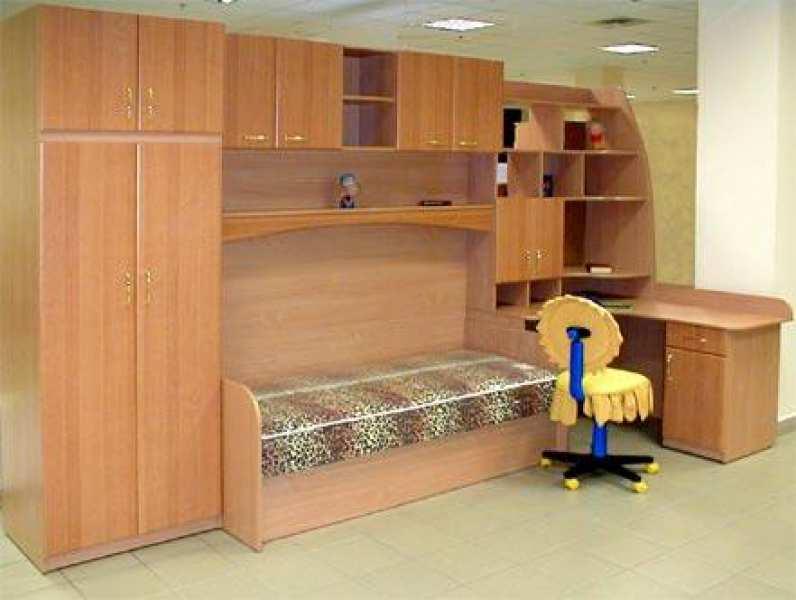 Встроенная детская мебель фото