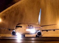Krasnodar flydubai launch - water cannon salute