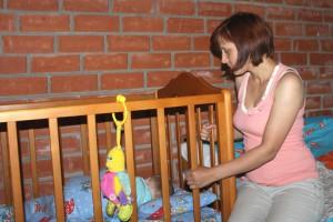 Надежда Щербакова с ребенком.