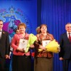 Слева направо губернатор Кубани Вениамин Кондратьев, глава Свободненского сельского поселения Ольга Гузик и председатель Законодательного Собрания Кубани Владимир Бекетов.