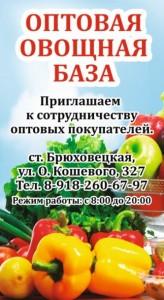 Брюховецкие Фрукты Овощи