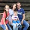 Юлия Чумак с мужем и с детьми.